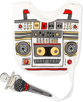 Dolce & Gabbana radio print bib - kids - Cotton - One Size