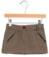 Bonpoint Girls' Patterned Mini Skirt