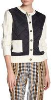 Juicy Couture Quilted Puffer Knit Sweater