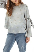 Topshop Women's Moth Print Top