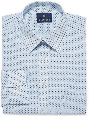 Stafford Mens Wrinkle Free, Comfort Stretch, Stain Repel, Super Shirt Dress Shirt