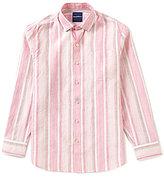 Tommy Bahama Long-Sleeve Emerald Shores Stripe Woven Shirt