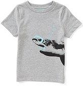 Class Club Adventure Wear by Little Boys 2T-7 Snorkel Shark Screen Print Knit Tee