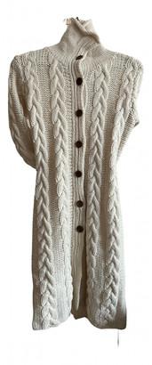 DKNY Ecru Wool Coats