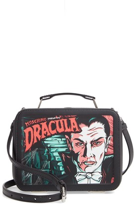 Moschino x Universal Dracula Faux Leather Lunchbox Bag