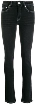 Ganni washed skinny-fit jeans