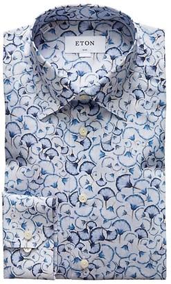 Eton Slim-Fit Floral Print Dress Shirt