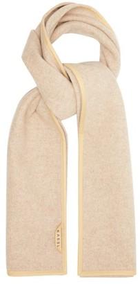 Kassl Editions Coated-trim Wool-blend Scarf - Beige