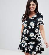AX Paris Plus Scuba Peplum Hem T-Shirt Dress
