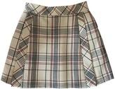 DELPOZO Ecru Wool Skirt for Women