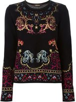 Roberto Cavalli intarsia jumper - women - Polyamide/Polyester/Viscose/Virgin Wool - 40