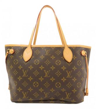 Louis Vuitton Neverfull Brown Cloth Handbags