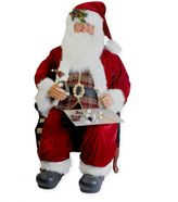 Kurt Adler 72-Inch Sitting Santa in Burgundy