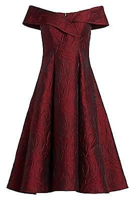 Teri Jon by Rickie Freeman Women's Off-The-Shoulder Cocktail Dress