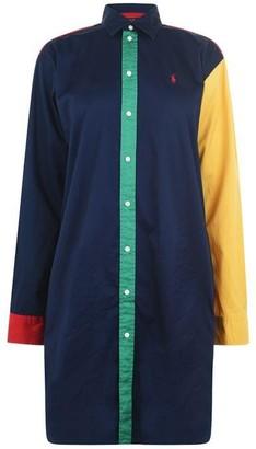Polo Ralph Lauren Long Sleeve Colourblock Shirt Dress