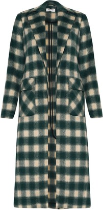 Glamorous Womens **Green Check Duster Coat By Green