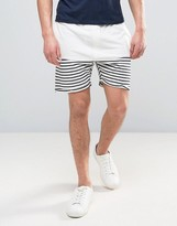Solid Jersey Shorts In Towelling And Stripe
