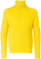 Mp Massimo Piombo - knitted turtle-neck sweater - men - Lambs Wool - L