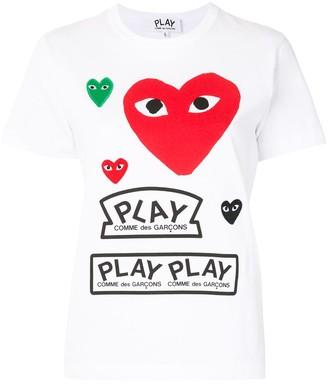 Comme des Garcons Logo Print Short Sleeve T-Shirt