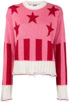 MSGM stars and stripes sweater
