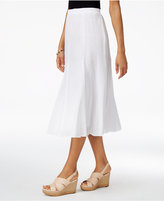 Alfred Dunner Petite Bahama Bays Cotton Gauze Midi Skirt