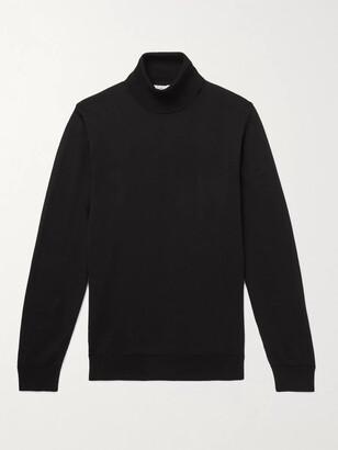 Mr P. Slim-Fit Merino Wool Rollneck Sweater - Men - Black