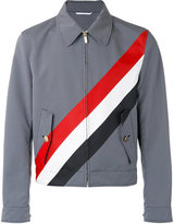 Thom Browne coated checked jacket - men - Cotton/Polyester - 1