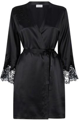 Marjolaine Lace-Trim Short Robe