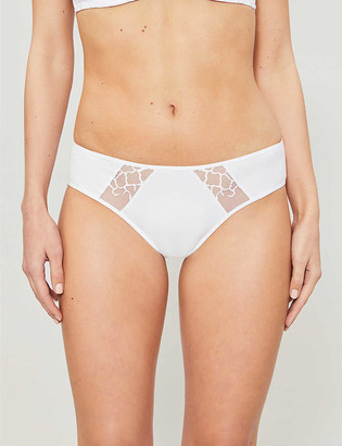 Wacoal Lisse low-rise lace and cotton-blend jersey briefs