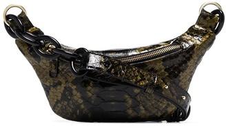Tara Zadeh crocodile-effect belt bag