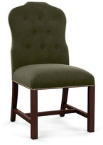 Bunny Williams Home Jack Side Chair - Olive Velvet frame, mahogany; upholstery, olive; nailheads, distressed brass