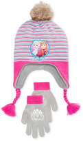Berkshire Fashions Frozen Anna & Elsa 2-Pc. Hat & Gloves Set, Girls (7-16) & Little Girls (2-6X)