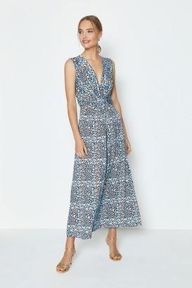 Coast Printed Jersey Twist Front Maxi Dress