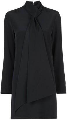 Tibi Tie-Neck Shift Dress