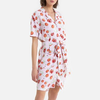 La Redoute Collections Short Shirt Dress in Fruity Print