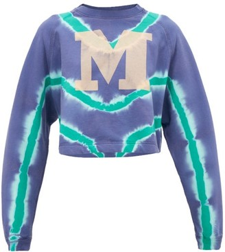 M Missoni M-logo Tie-dyed Cotton Sweatshirt - Blue Multi