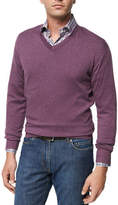 Peter Millar Crown Soft Cotton V-Neck Sweater