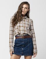 Roxy Driftwood Womens Flannel Shirt