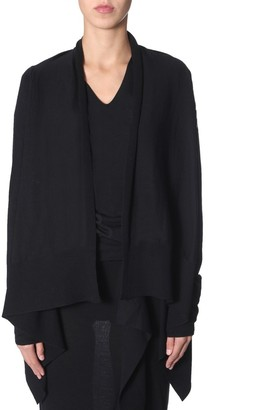 Rick Owens Waterfall Open Front Cardigan
