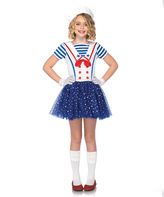 Leg Avenue Blue & White Starry Sailor Dress-Up Set - Girls