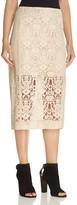 DKNY Velvet Lace Midi Skirt