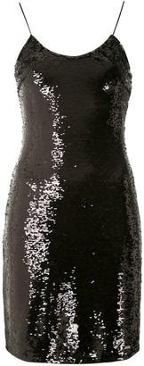 Armani Exchange Sequin-Embellished Mini Dress