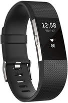 Fitbit Charge 2 Heart Rate + Fitness Wristband (Black/Silver) - Large
