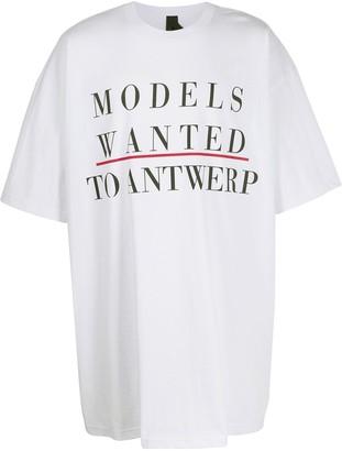 Bernhard Willhelm Camper Lab x oversized T-shirt