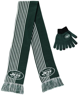Women's Green New York Jets Gloves & Scarf Set