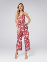 Forever New Jamie Printed Culotte Jumpsuit - Fuschia Watercolour - 4