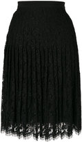 Giambattista Valli lace embroidered pleated skirt