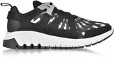Neil Barrett Molecular Black Neoprene and Nylon Runner Sneakers