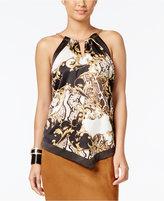 Thalia Sodi Thali Sodi Chain-Neck Printed Top, Only at Macy's