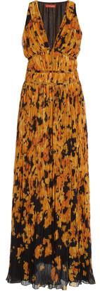 Altuzarra Layla Printed PlissA Maxi Dress